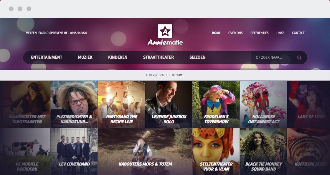 creatieve website anniematie events