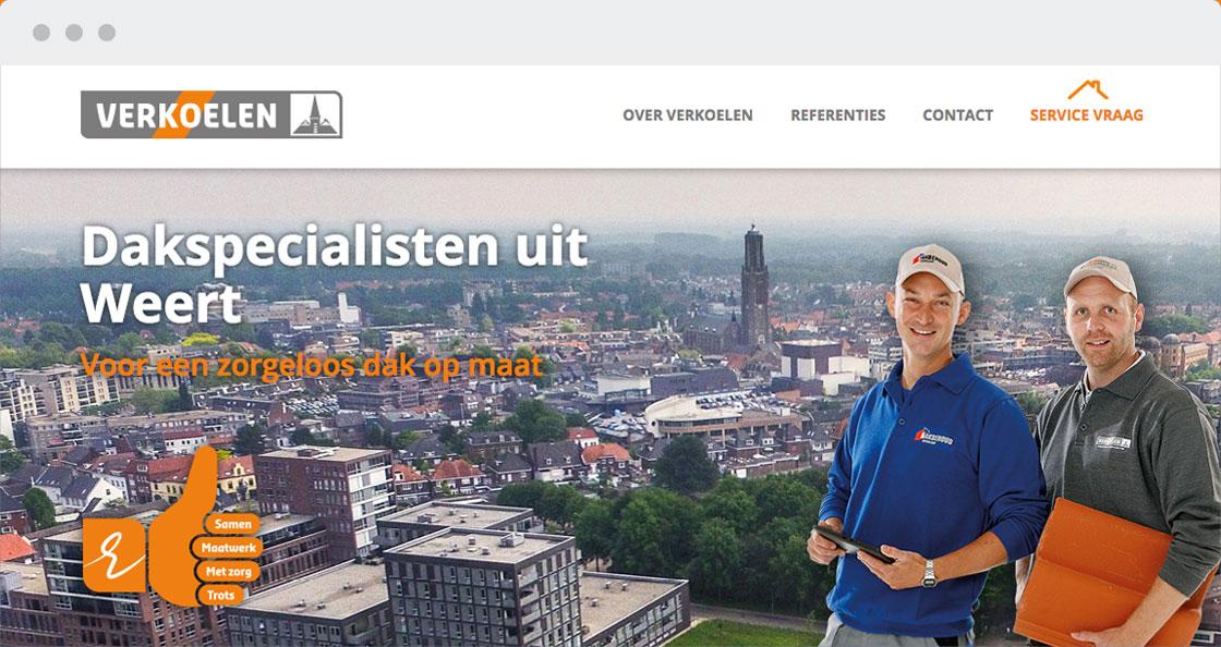 verkoelen dakwerk website bouw branche